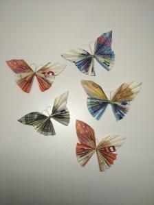 Diy Geldgeschenk Fliegende Schmetterlinge Nordgefluster